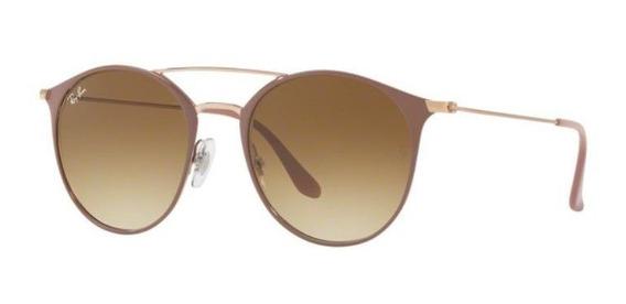 Oculos Sol Ray Ban Rb3546 907151 52mm Bege Lt Marrom Degradë