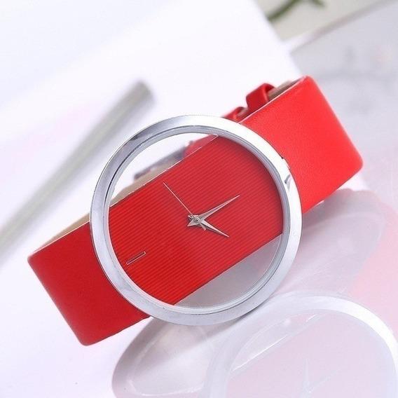 Relógio Feminino Transparente Vidro Hardlex Cores