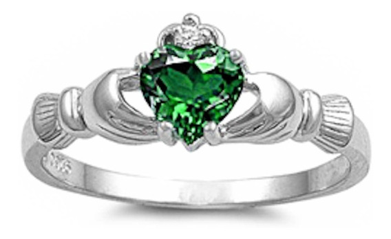 Anillo Plata Celta Zafiro Diamante Amor Compromiso Irlandes