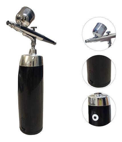 Kit Completo Aerografia Mini Compressor A Bateria +aerógrafo