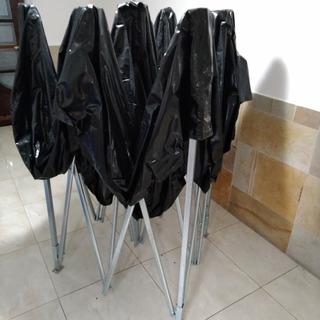Tenda 3x3 Preta Com 3 Laterais Transparentes - Stall Up