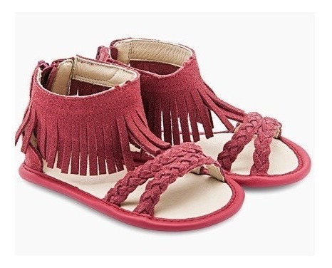 Sandália Infantil Com Franja Vermelha Tip Toey Joey