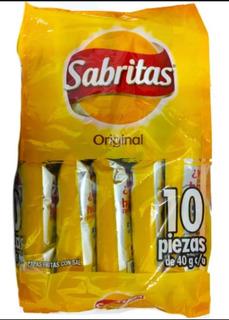 Sabritas Papas Sal Pack Paquete Con 10 Pz De 40gr