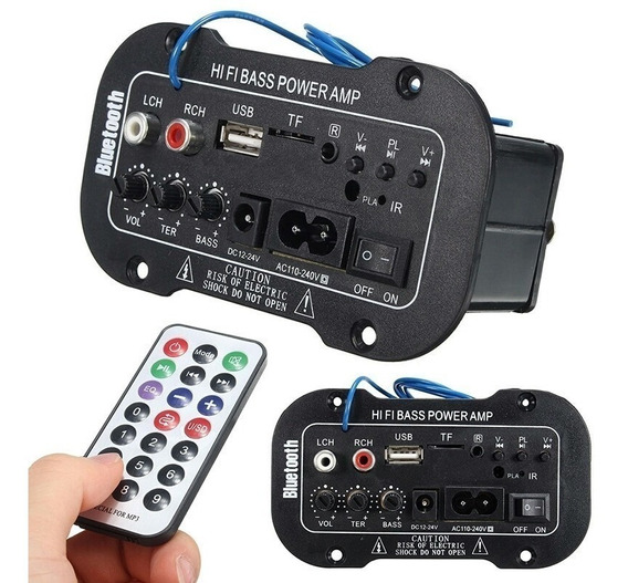 Placa De Som Amplificada Decodificador Mp3/bluetooth/usb-top