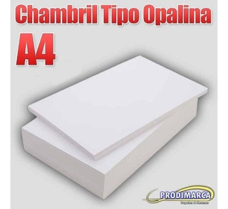 Chambril Tipo Opalina 120 Gr A4 Blanco X 500 Hojas