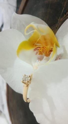 Anel Solitário 18k Com Diamante