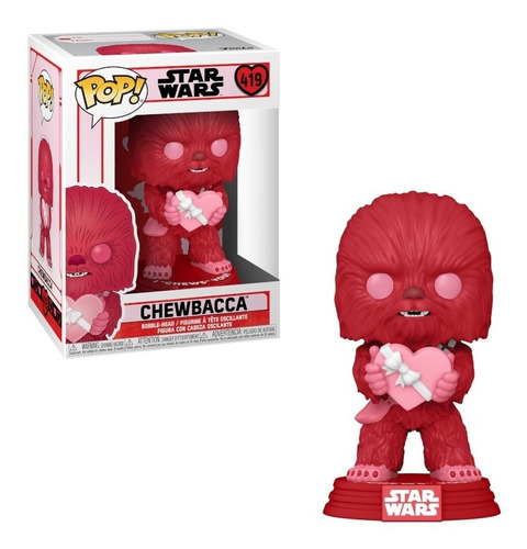 Imagen 1 de 1 de Chewbacca San Valentín Funko Pop Star Wars Corazón