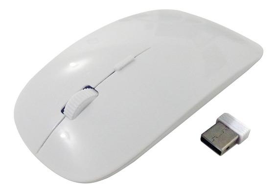 Mouse Sem Fio Slim Wireless P/ Windows, Mac ,smart Tv Branco