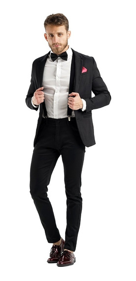 Saco Con Pantalon Y Zapatos De Vestir Entallados Import Usa