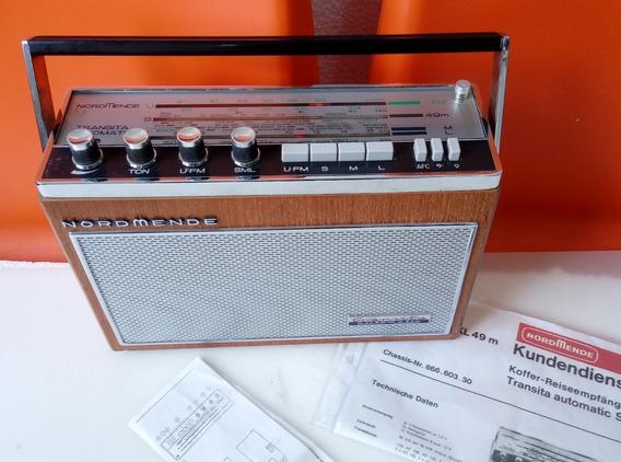 Radio Nordmende Transita Automatic 605 4 Band Funcionando