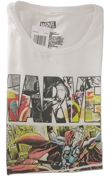Camisa Masculina Personagens Marvel Manga Curta