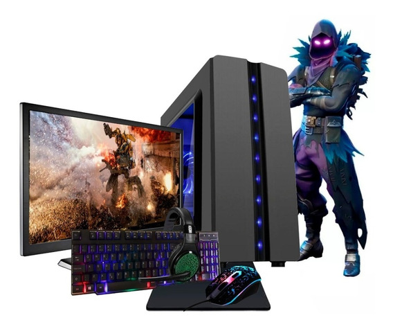 Pc Gamer 7480 8gb Ssd Radeon R5 Tela 19,5 Kit Gamer Novo!