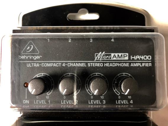 Microamp Ha400 Behringer 4 Canais Amplificador De Fones