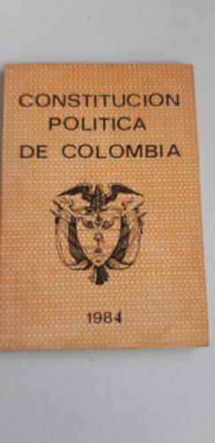 Libro Constitucion Politica De Colombia 1984