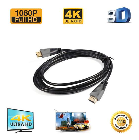 Cabo Hdmi 1.8m 1.4 Ultra Hd 3d 4k Alta Resolução 1080p Fullh