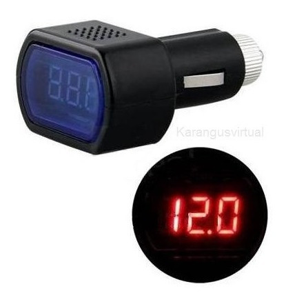 Voltimetro Digital Carro Isqueiro Medidor Bateria 12-24v 1un