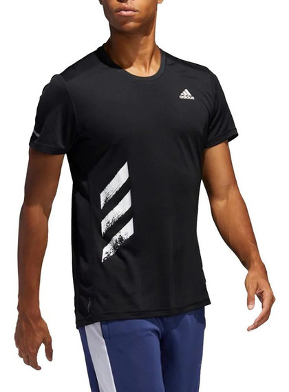 Remera adidas Remera Run It Negra Hombre - Running