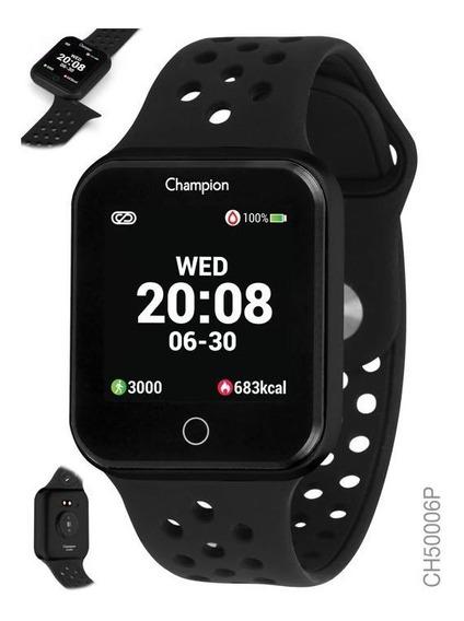 Relogio Smart Watch Champion Unissex Ch50006p Preto C/ Preto