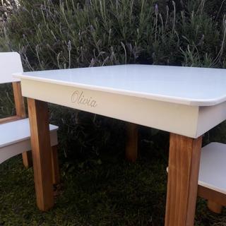 Mesita Cuadrada Y Silla Entrega Incluida Zona Palermo