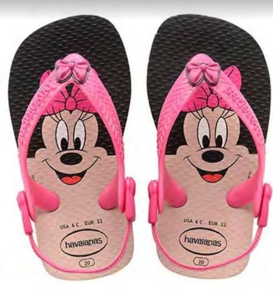 Ojotas Havaianas Disney Mikey Y Minie 19/24 Originales