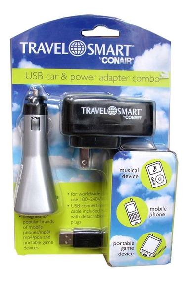 Adaptador De Viaje Combo Travel Smart Ts252ad