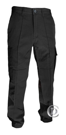 Pantalón Diseño Clásico Ripstop Azul Negro Policia Nivel 1
