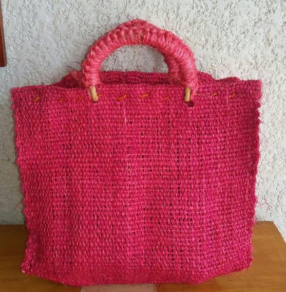 Bolsas De Mano Tejida Con Ixtle Henequén Artesanal Colores