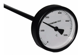 Termômetro 500 Graus Para Forno De Pizza Esfiha 200mm