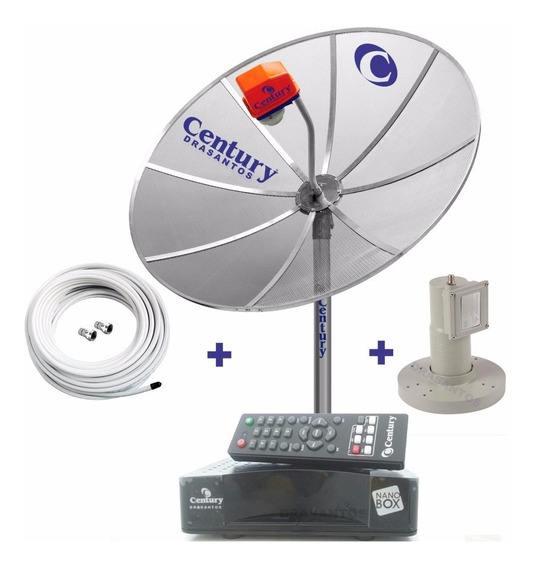 Antena Parabolica Century Completa Receptor Analógico