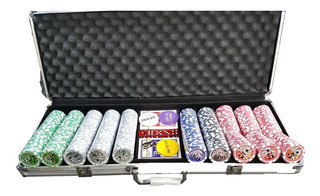 Kit Poker Star 500 Peças Com Maleta Alumínio Holografica Top