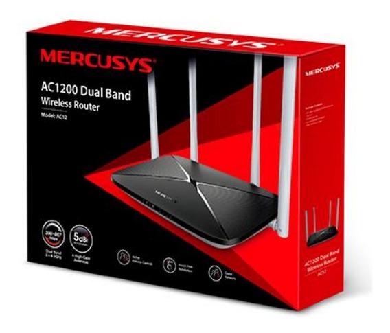Router Wifi Mercusys Banda Dual Ac12 4 Anten 1200 Mbps