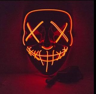 Mascara Led Neon Festa Balada Cosplay Halloween Rave