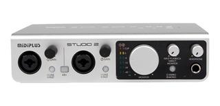 Promo Placa De Sonido Usb Profesional Midiplus Studio 2 24 B