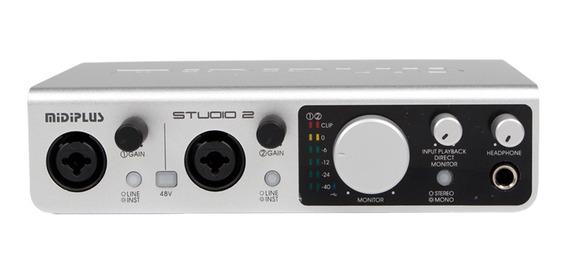 Placa De Sonido Usb Profesional Midiplus Studio 2 192 Khz 24