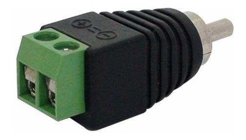 Kit 10 Conector Rca Macho Com Borne - Cftv Audio Video