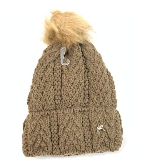 Gorro De Dama Con Ponpom Para Frio Invierno 2