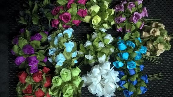 Flores Artificiales De Tela (paq X 120 Unid)