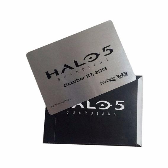 Cartão Colecionavel Halo 5 Guardians - Master Chief / Warden