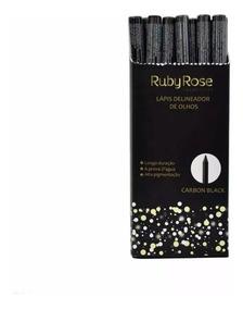 36 Lápis Delineador De Olhos Ruby Rose Prova Dágua Atacado