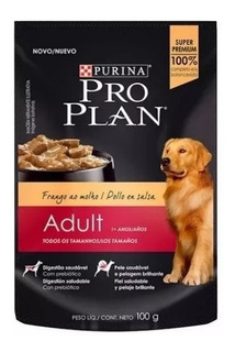 Pouch Pro Plan Wet Dog Adult X 100 Grs