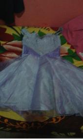 Vestido De Festa Infantil Lilás De Princesa