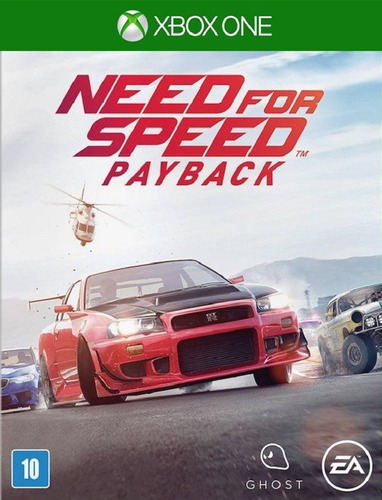 Need For Speed Payback - Xbox One 25 Dígitos