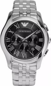 Relógio Emporio Armani Ar1786 Prata E Preto Frete Grátis.
