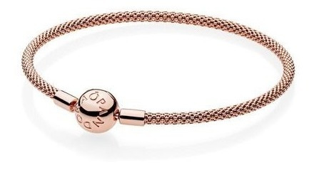 Bracelete Crie E Combine Rose Malha