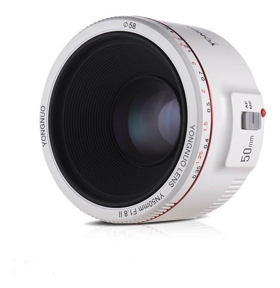 Lente Yongnuo Yn 50mm F / 1.8 Il Para Canon Ef Branca