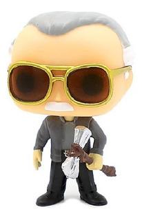 Funko Pop Stan Lee Con Hacha Martillo De Thor Custom Marvel