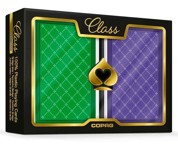 2 Baralhos Copag Class Standard Estojo Duplo Naipe G Poker