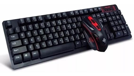 Mouse E Teclado Gamer Wireless S/ Fio Pc E Nootbook Hk6500