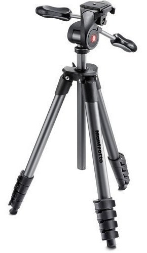 Tripé Manfrotto Compact Advanced Mkcompactadv-bk 1,65 M 12x S/juros
