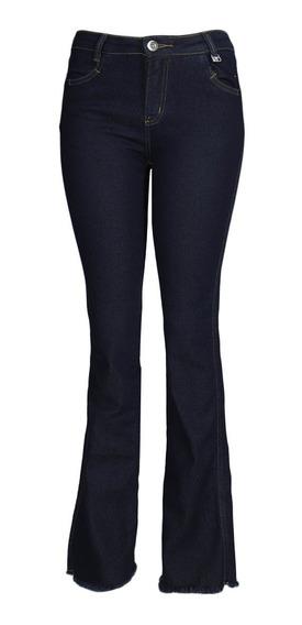 Calça Jeans Flare Max Denim Elastica